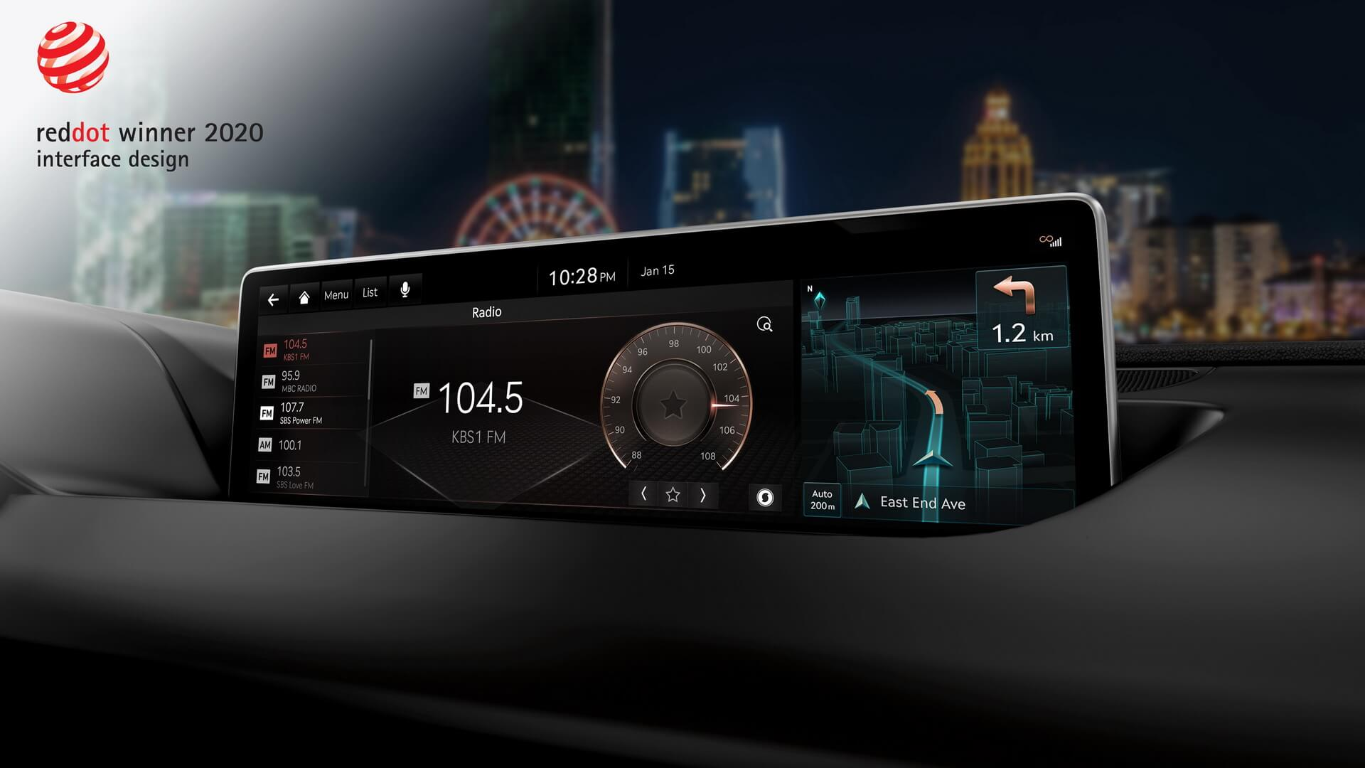 Genesis победил в номинации «Интерфейс и дизайн» за встроенную информационно-развлекательную систему автомобилей