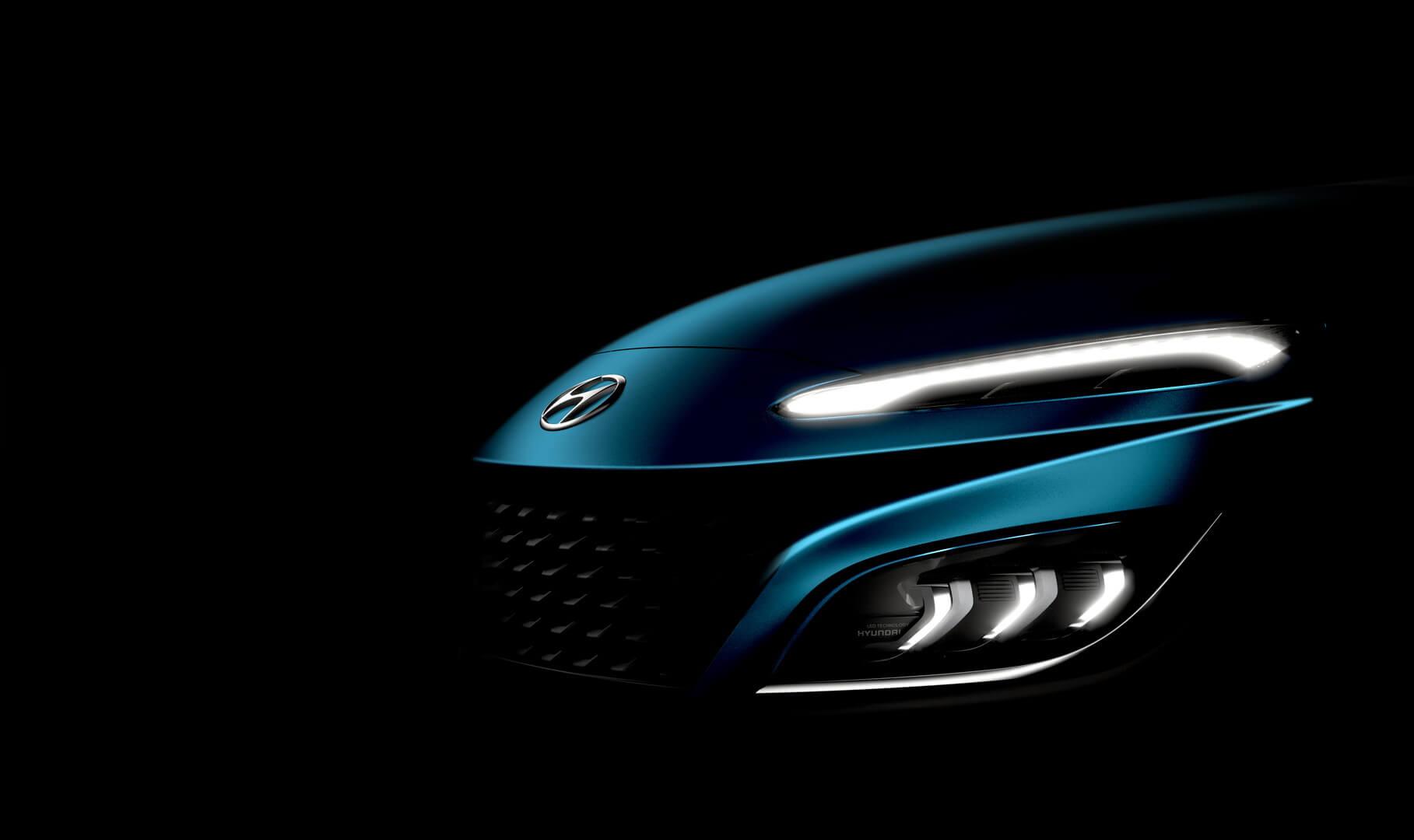 Новая Hyundai Kona получит «акулий нос», что предаст модели выразительности