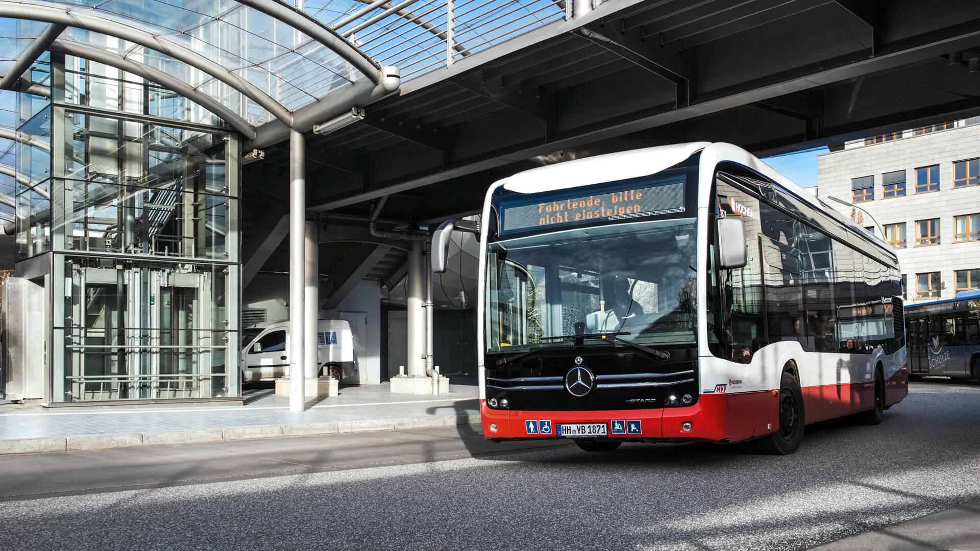 Электрический одиночный автобус Mercedes-Benz eCitaro