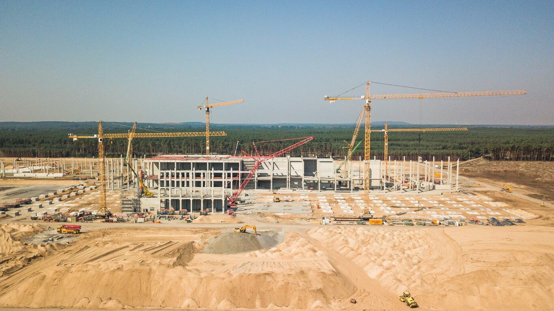 На Giga Berlin строят сразу несколько отдельных зданий