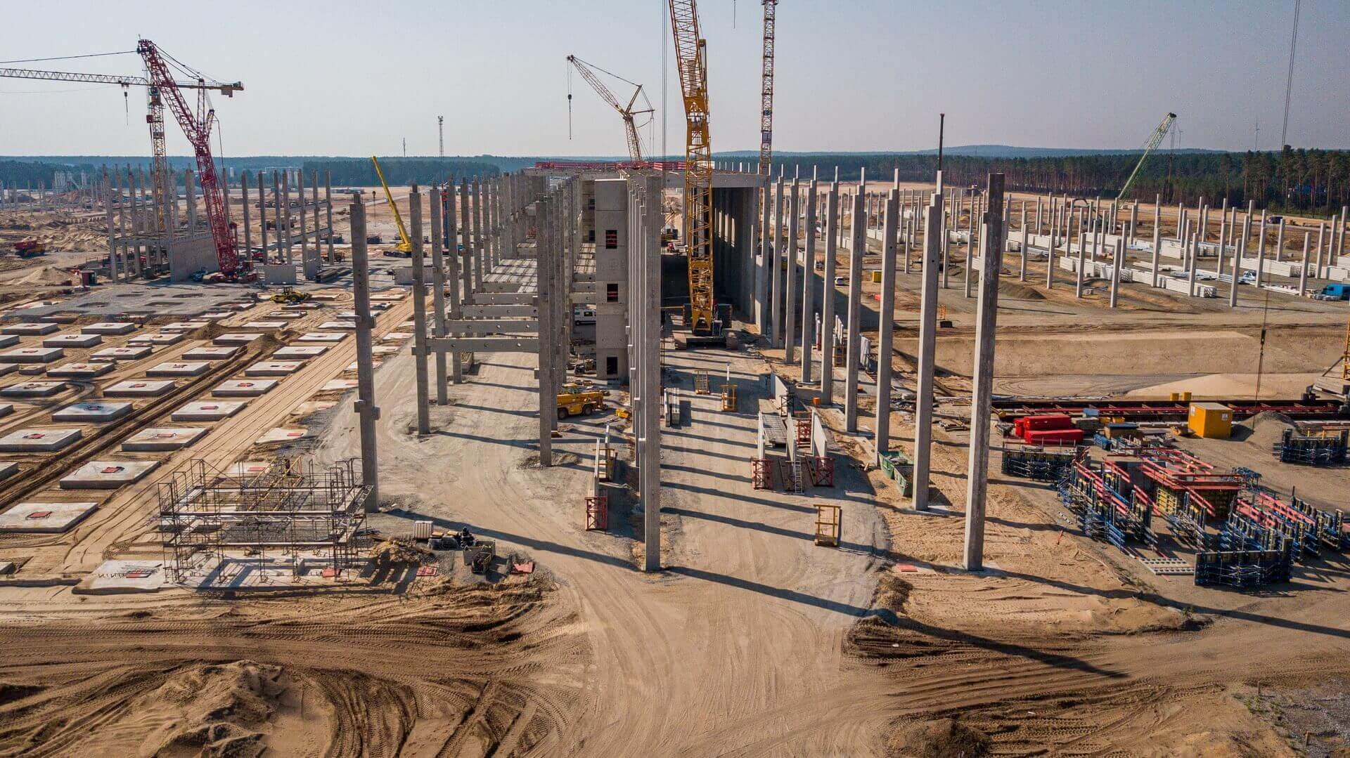 Строительство Giga Berlin идет ударными темпами