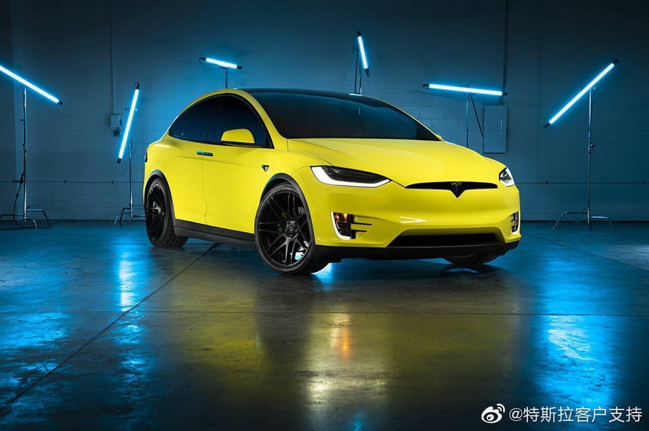 Владельцы Tesla в Китае смогут изменить цвет электрокаров