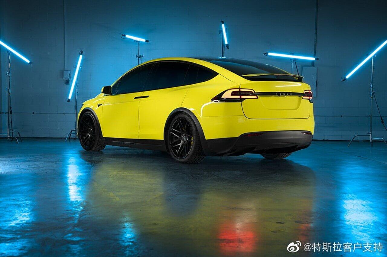 Новый сервис в Китае позволит изменить цвет моделей Tesla