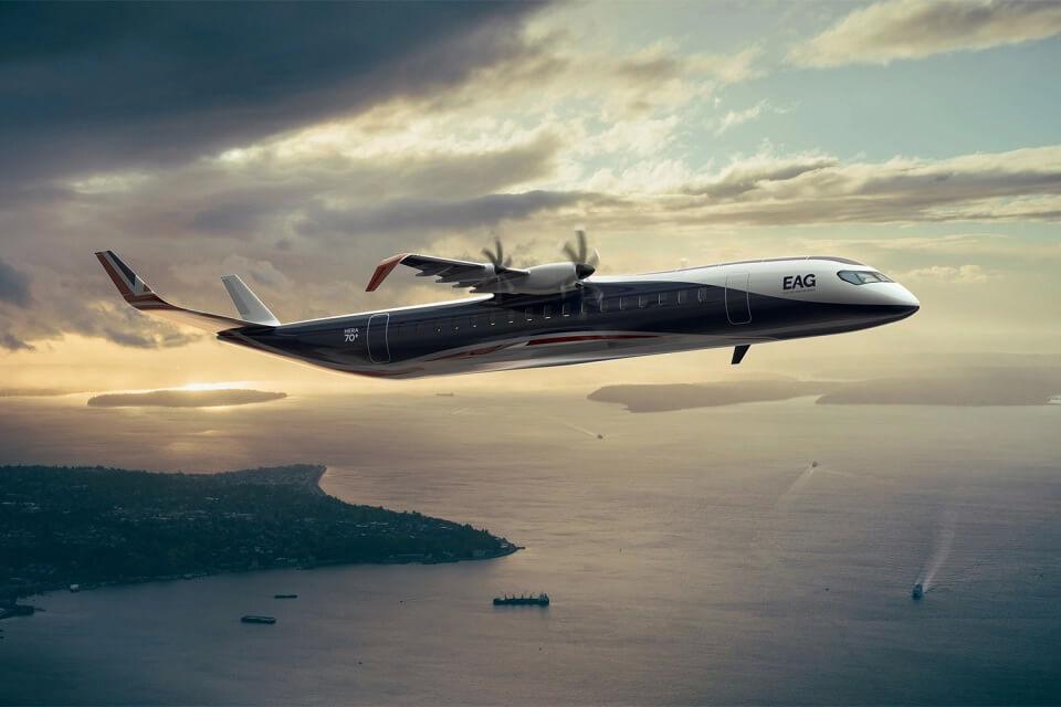 EAG обнародовала планы по выпуску гибридного самолета на 70 мест