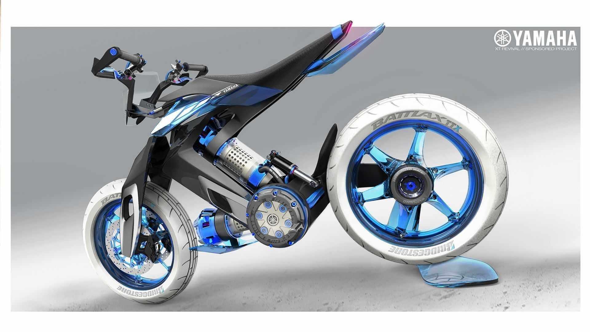 Концептуальный мотоцикл с водяным двигателем Yamaha XT500 H2O