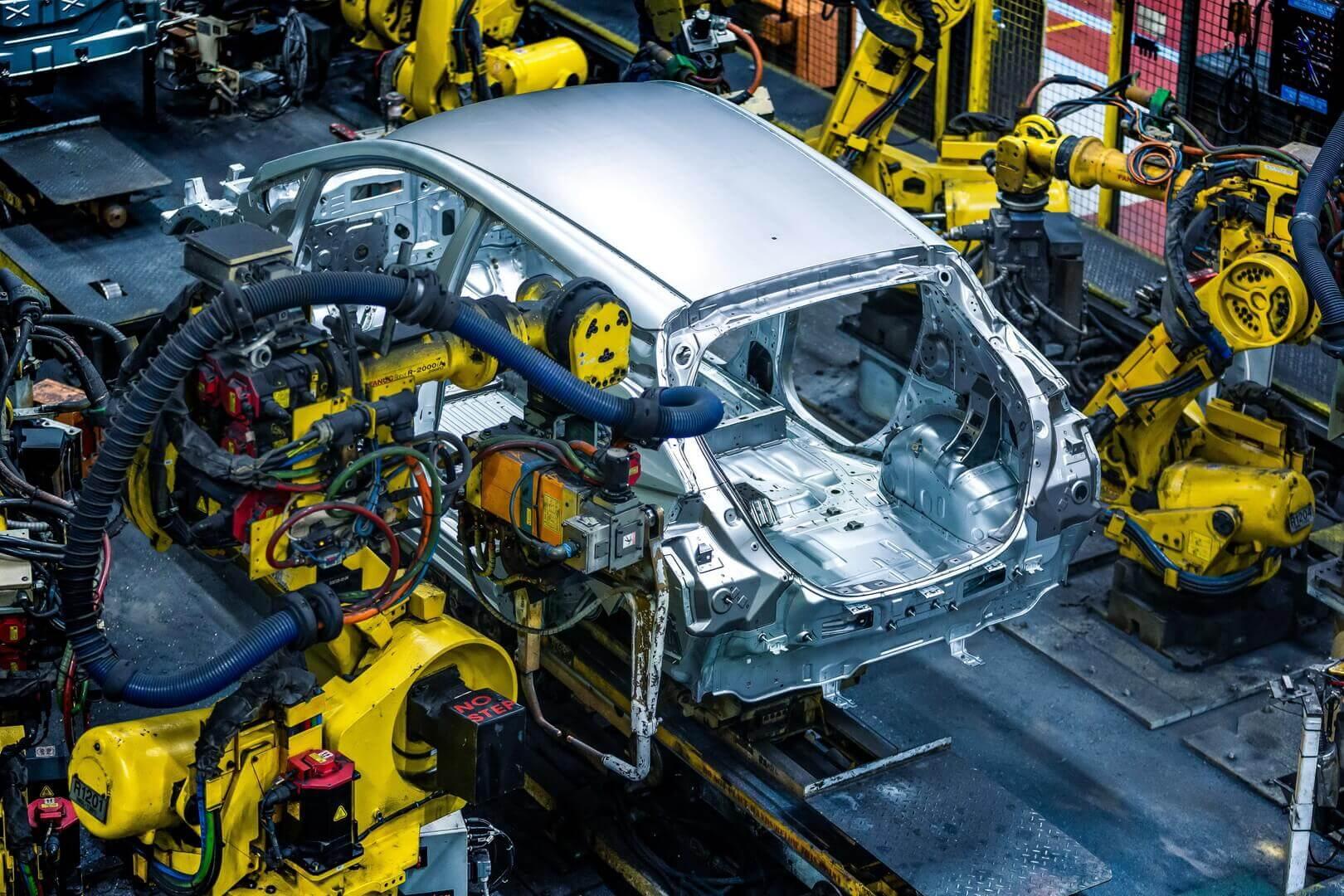 Производство Nissan LEAF на заводе в Сандерленде