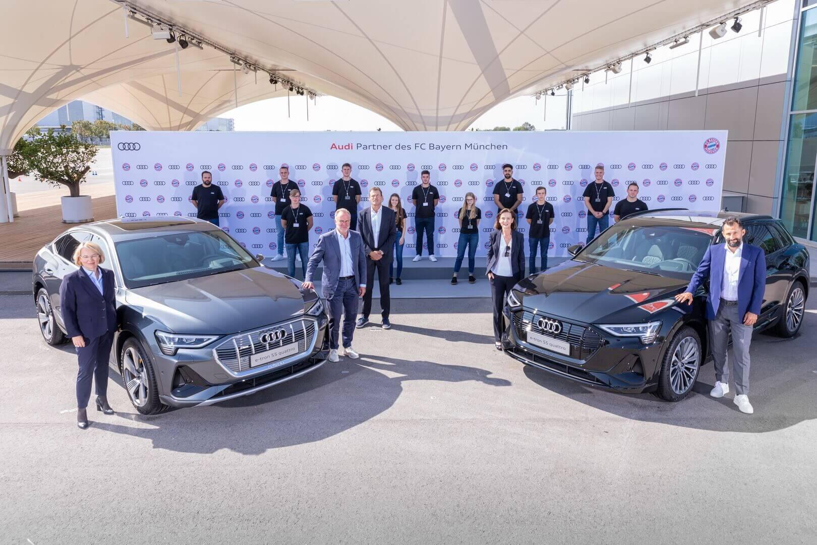 Audi электрифицировала ФК «Бавария» Мюнхен
