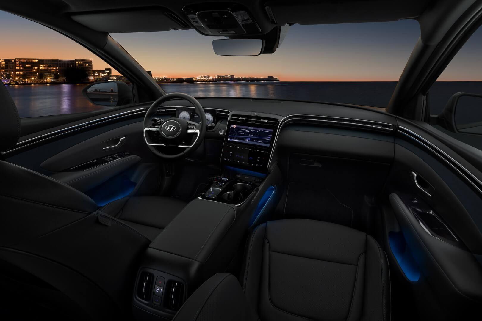 Салон Hyundai Tucson четвертого поколения