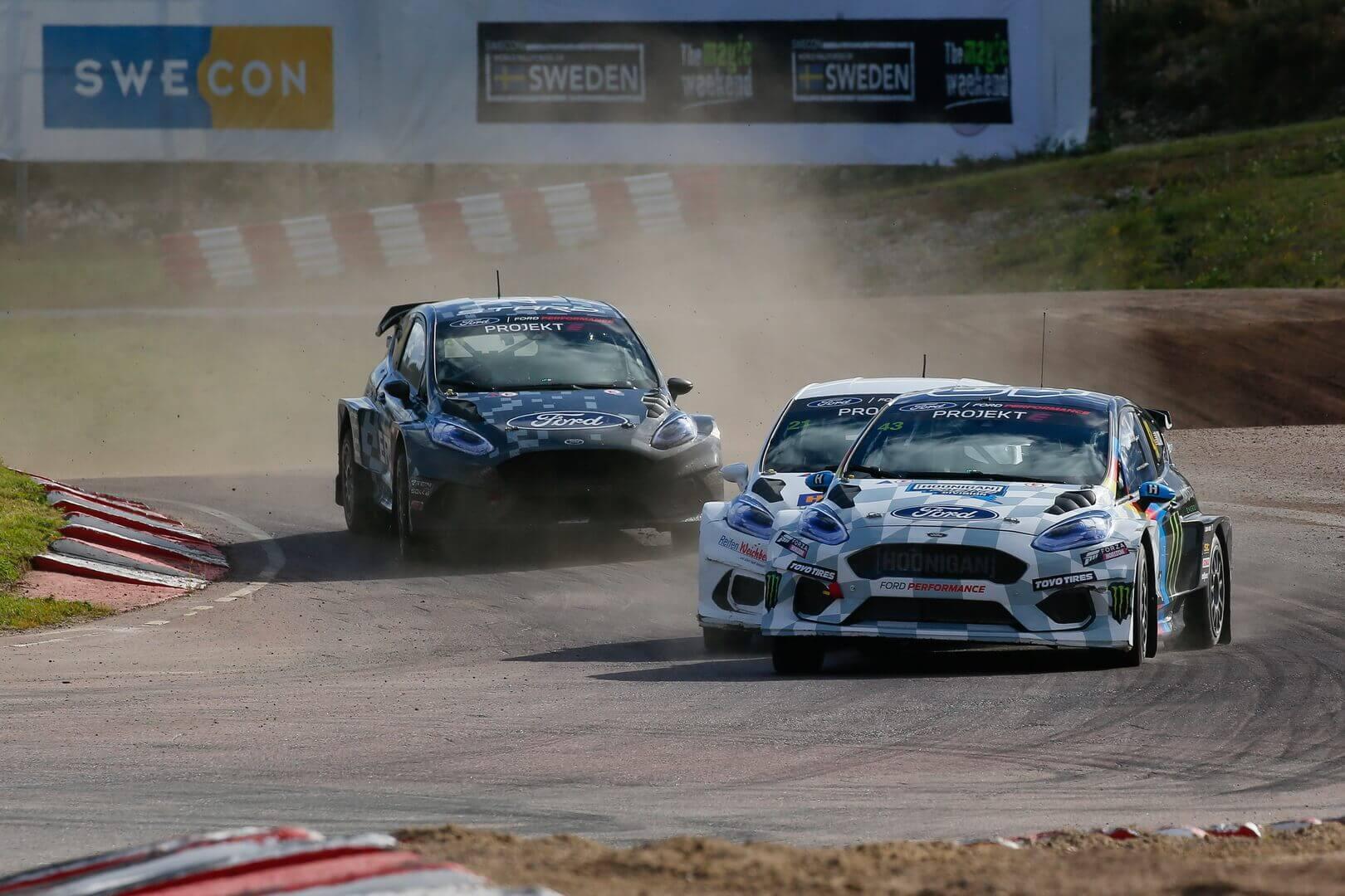 Состоялась первая гонка по ралли-кроссу на электрических Ford Fiesta ERX