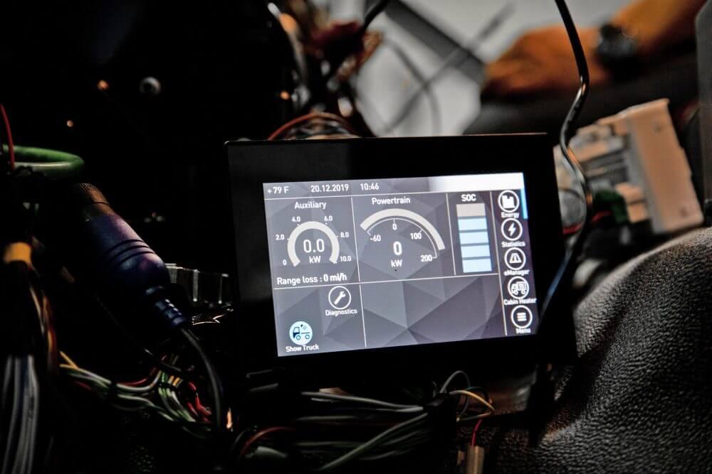 Дисплей с электрифицированными показателями