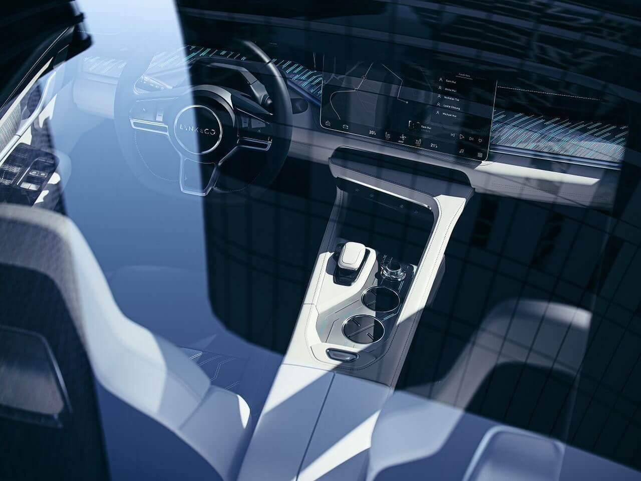 Интерьер электромобиля Lynk & Co Zero Concept