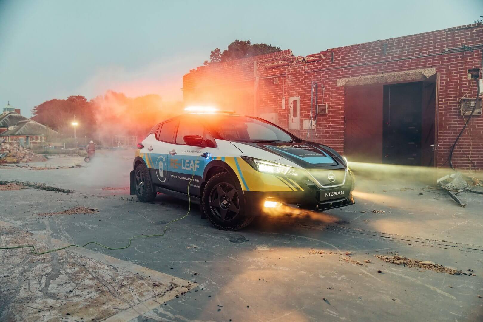 Nissan представил аварийный электромобиль RE-LEAF