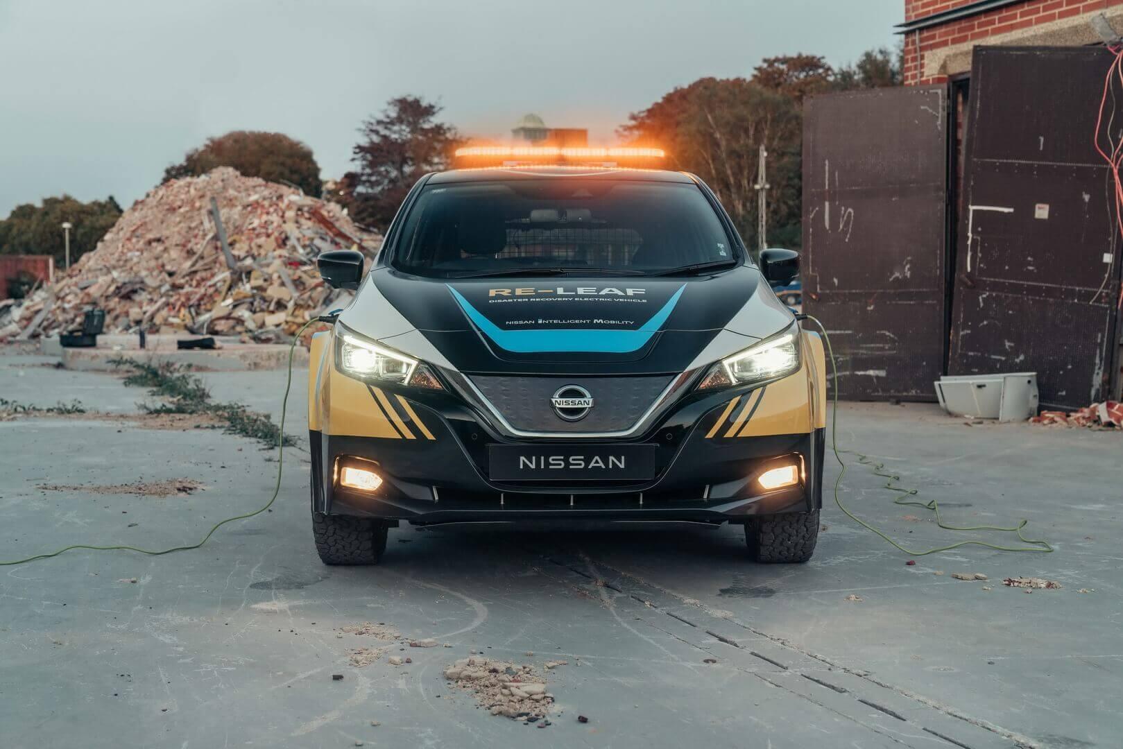 Nissan демонстрирует концепцию аварийного автомобиля RE-LEAF