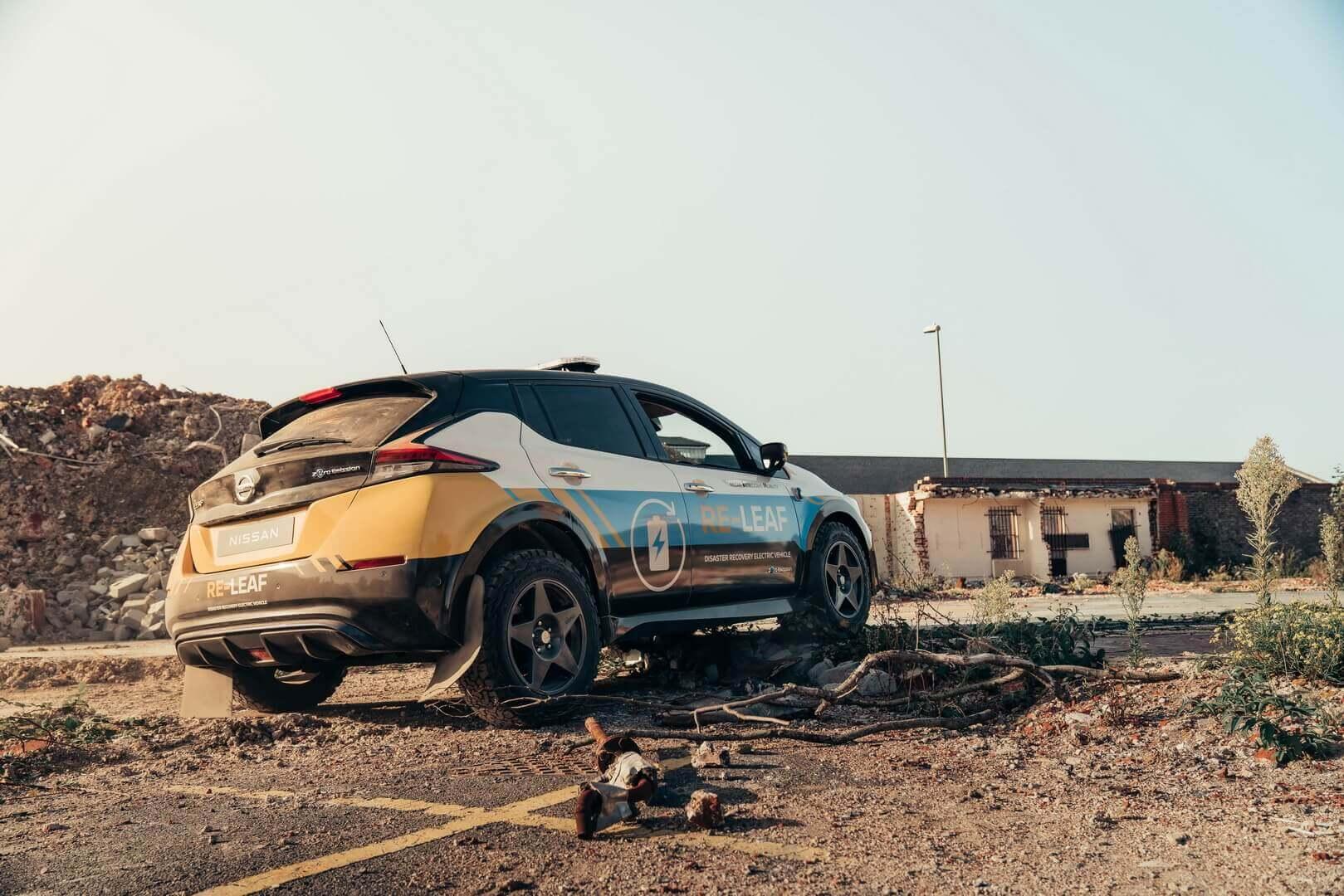 Nissan представил аварийный электромобиль для спасательных служб