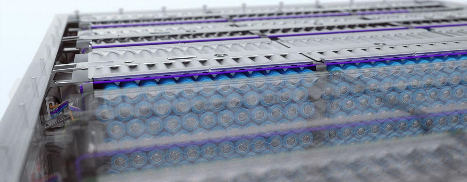 Аккумуляторные блоки Proterra собраны с использованием цилиндрических батарейных элементов