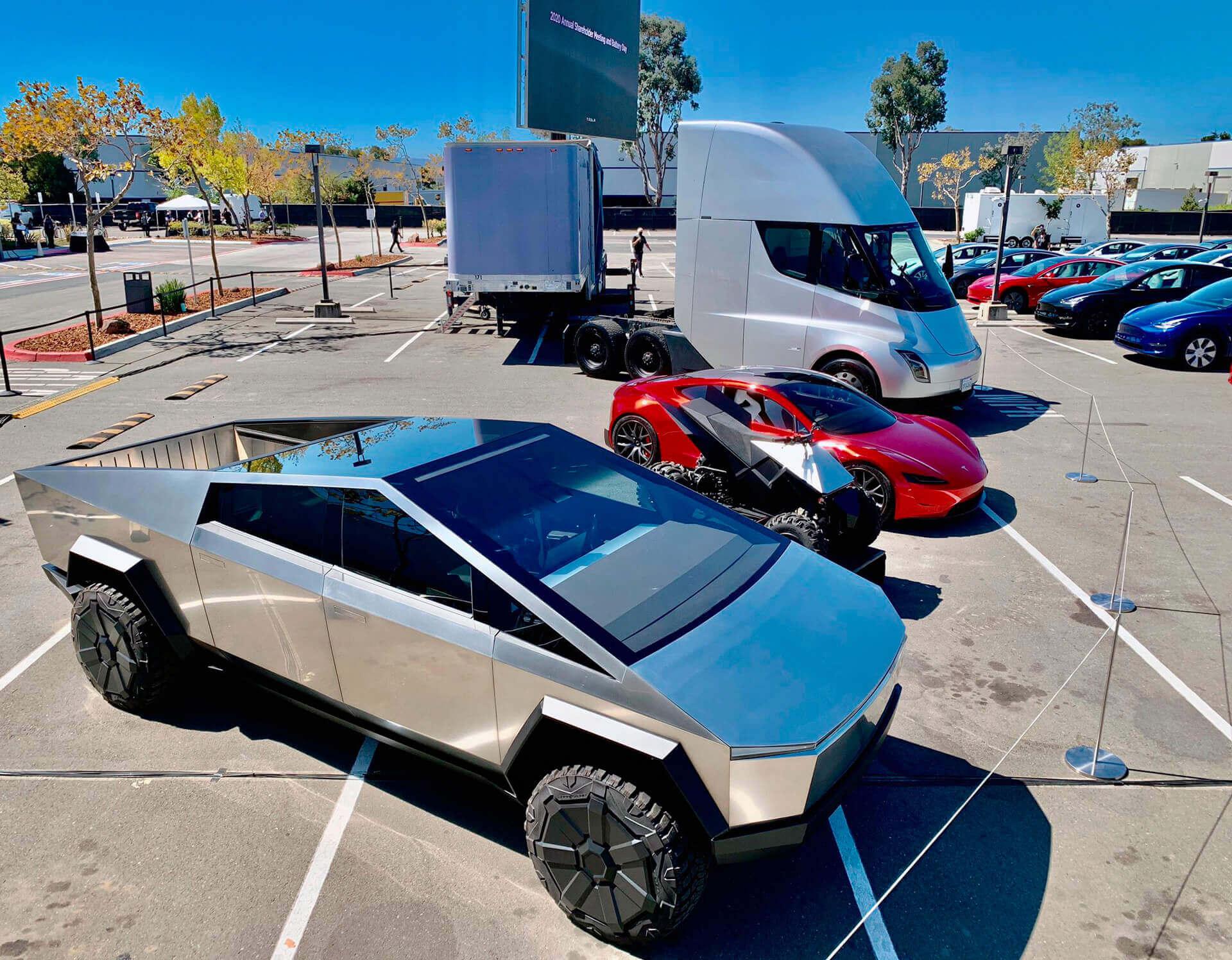 Tesla Battery Day дал возможность взглянуть на все прототипы компании