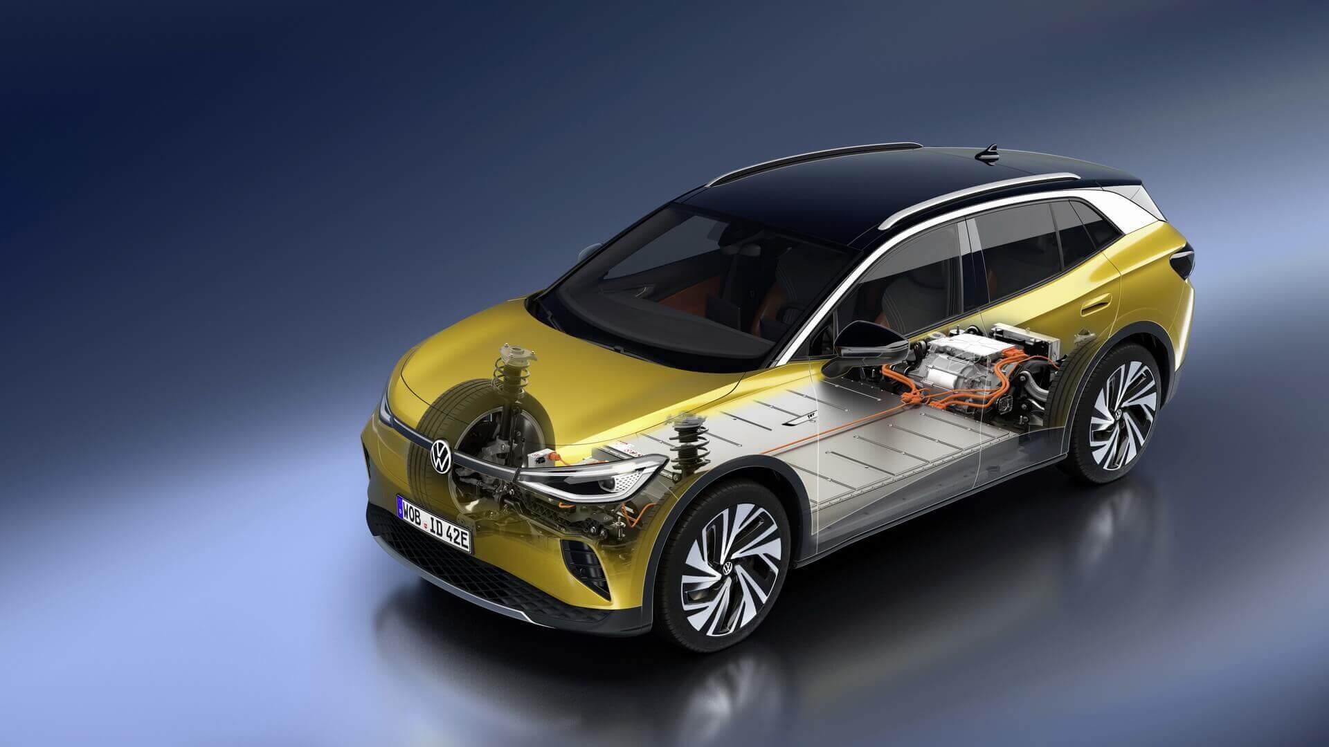 Заднеприводный Volkswagen ID.4 предлагает запас хода до 520 км