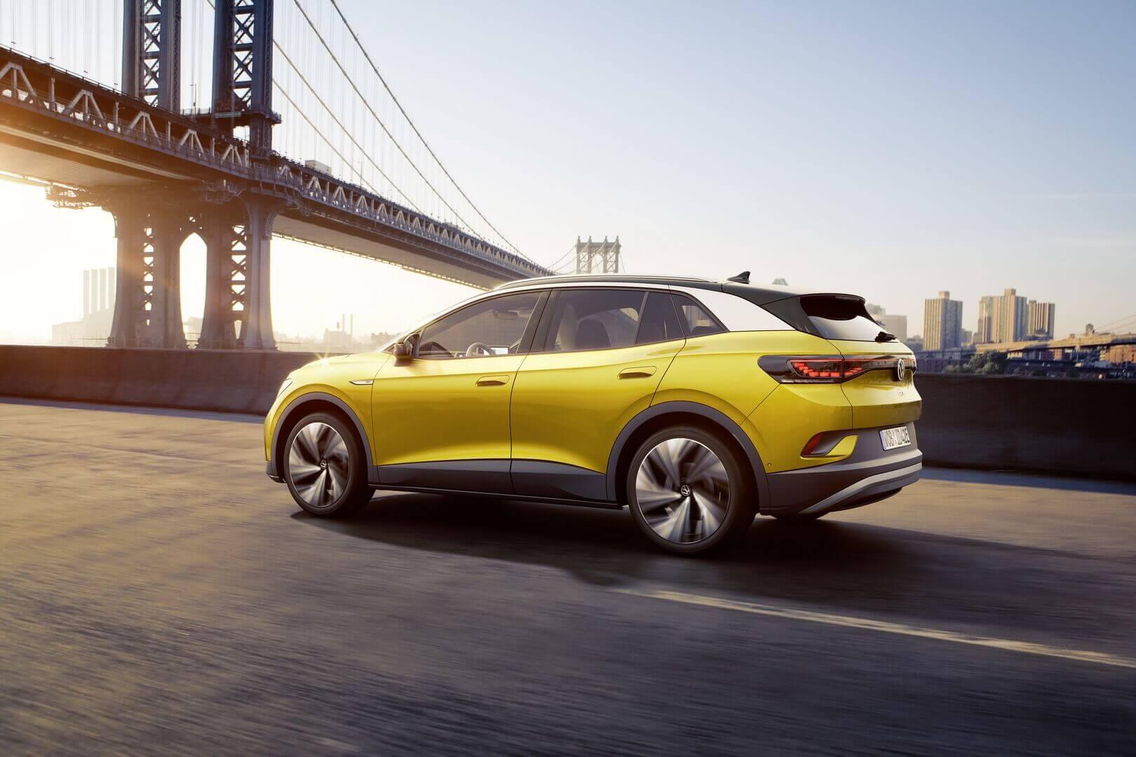 Заднеприводный Volkswagen ID.4 предлагает запас хода около 400 км по EPA