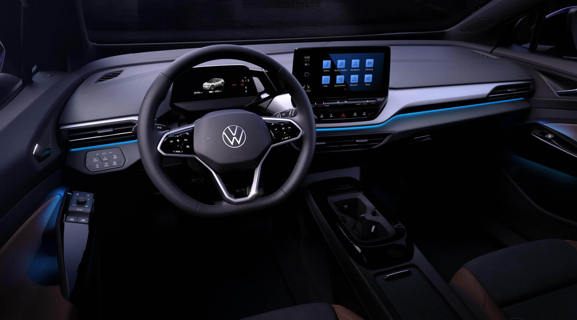 Интерьер электрического кроссовера Volkswagen ID.4