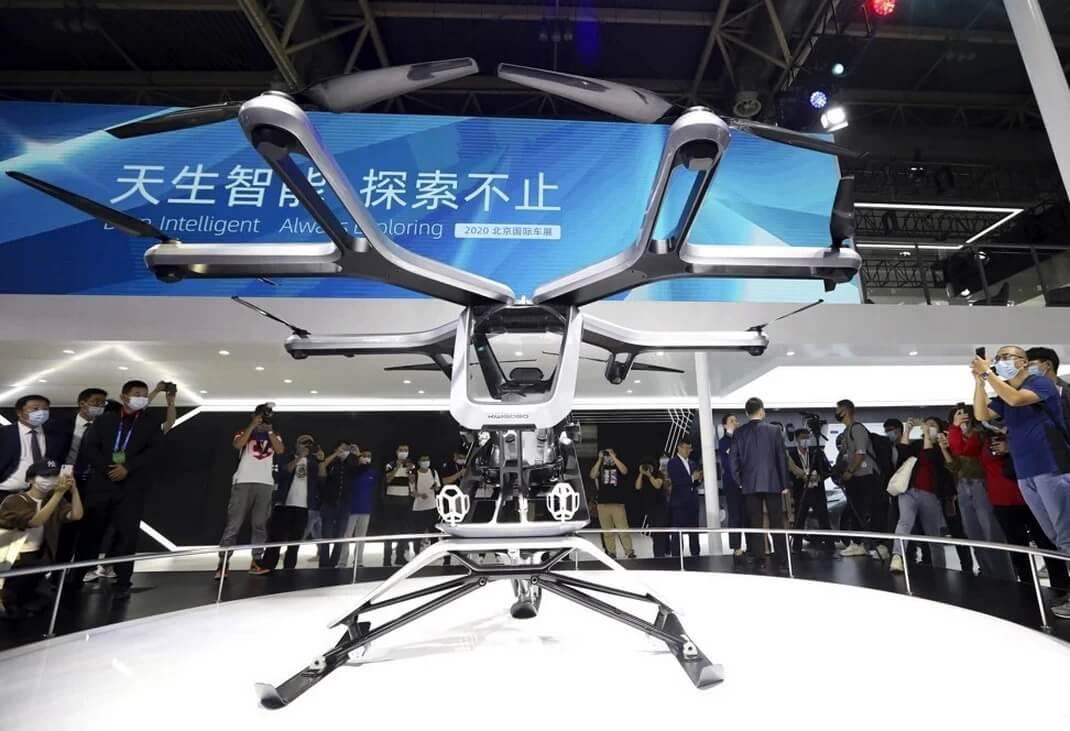 XPeng представляет свой летающий автомобиль Kiwigogo на Пекинской международной автомобильной выставке