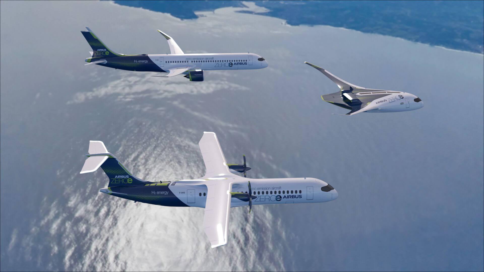 Airbus запустит коммерческие самолеты на водородном топливе к 2035 году