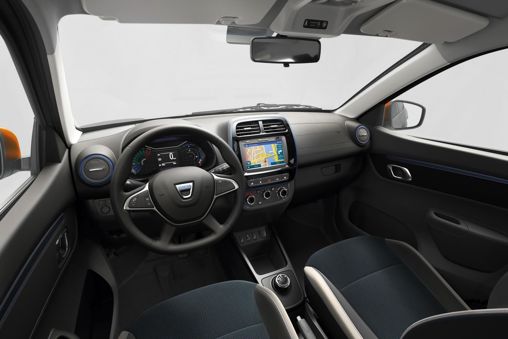 Интерьер салона Dacia Spring Electric в комплектации Comfort Plus