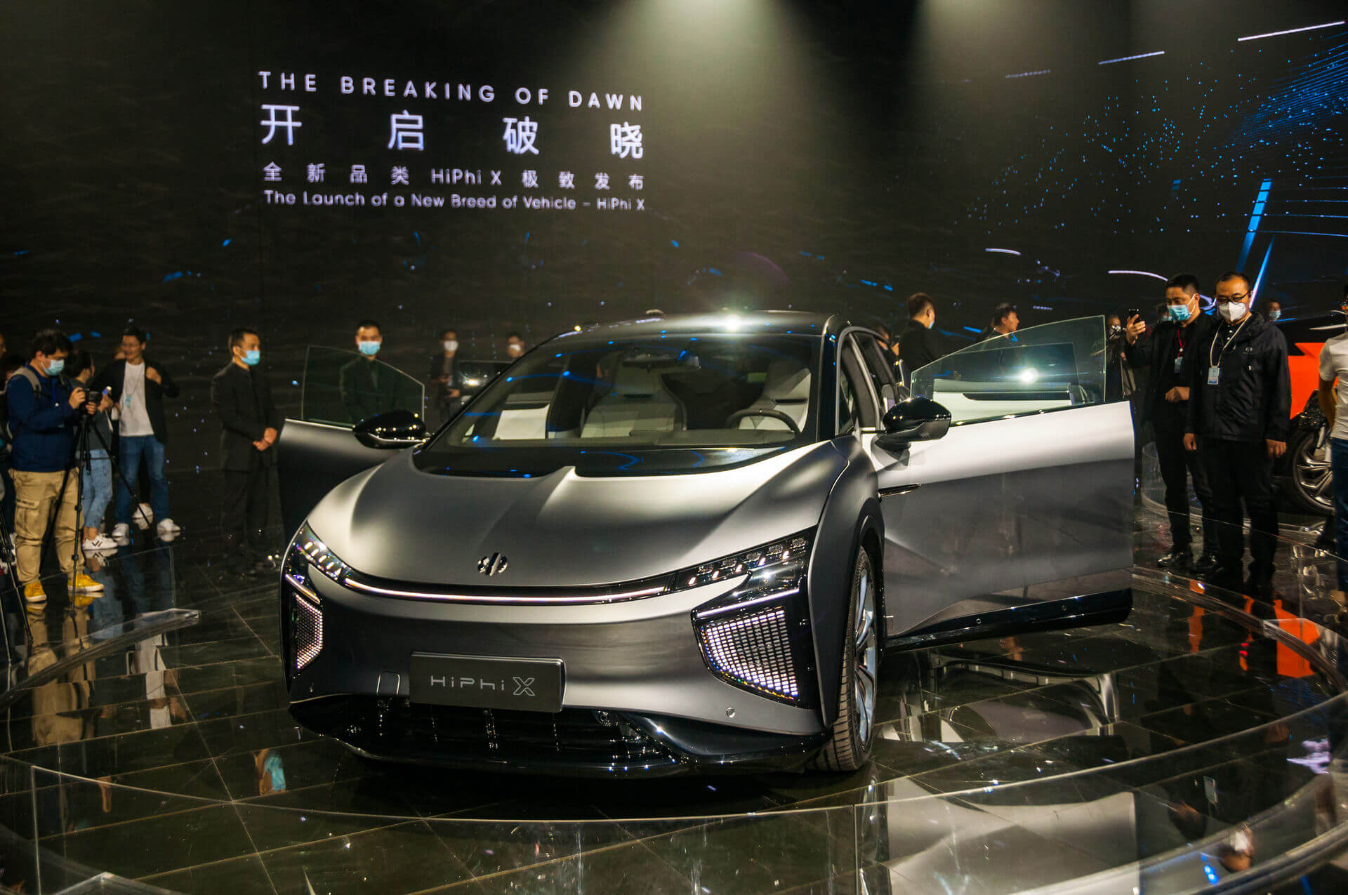 Ответ Китая наTesla Model X— инновационный эволюционируемый супервнедорожник HiPhi X