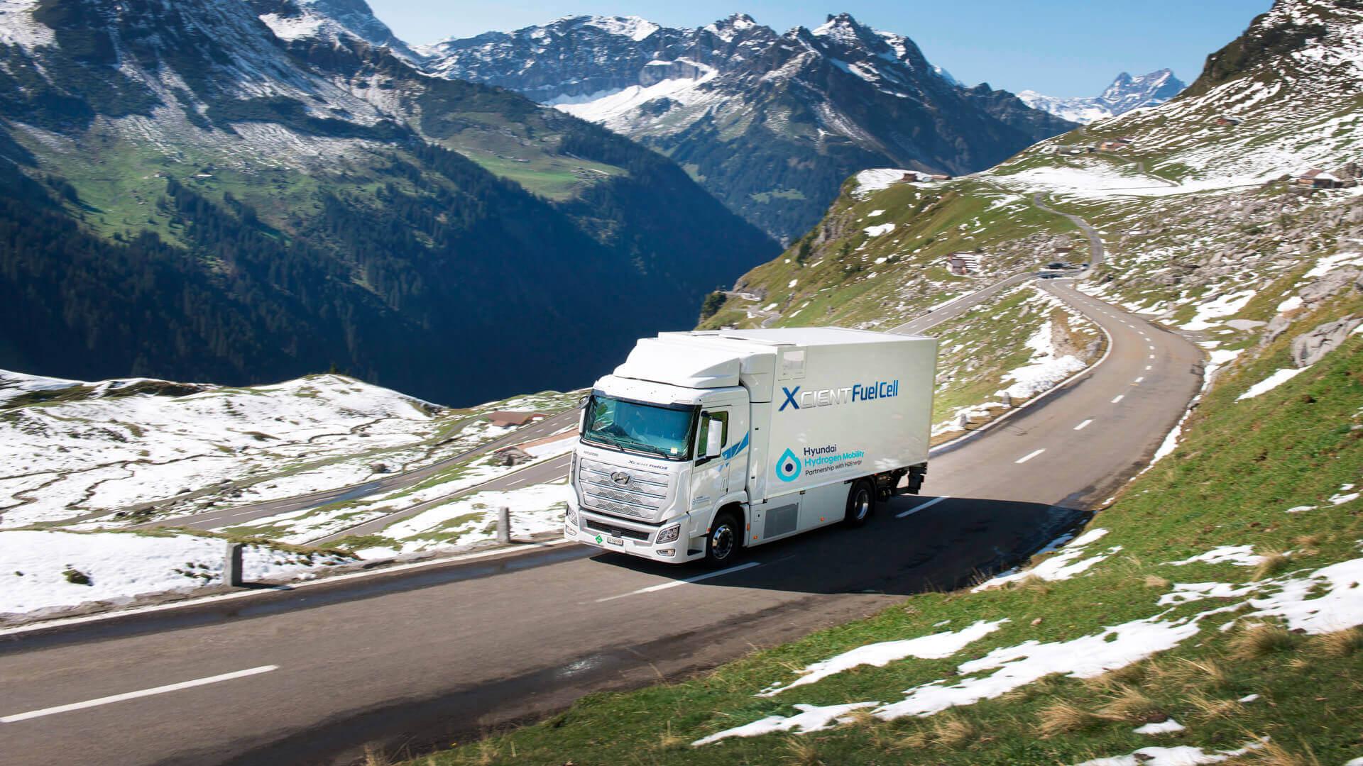 Водородный грузовик Hyundai XCIENT Fuel Cell