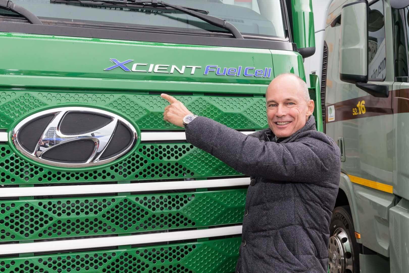 Hyundai поставляет первые грузовики на топливных элементах в Швейцарию