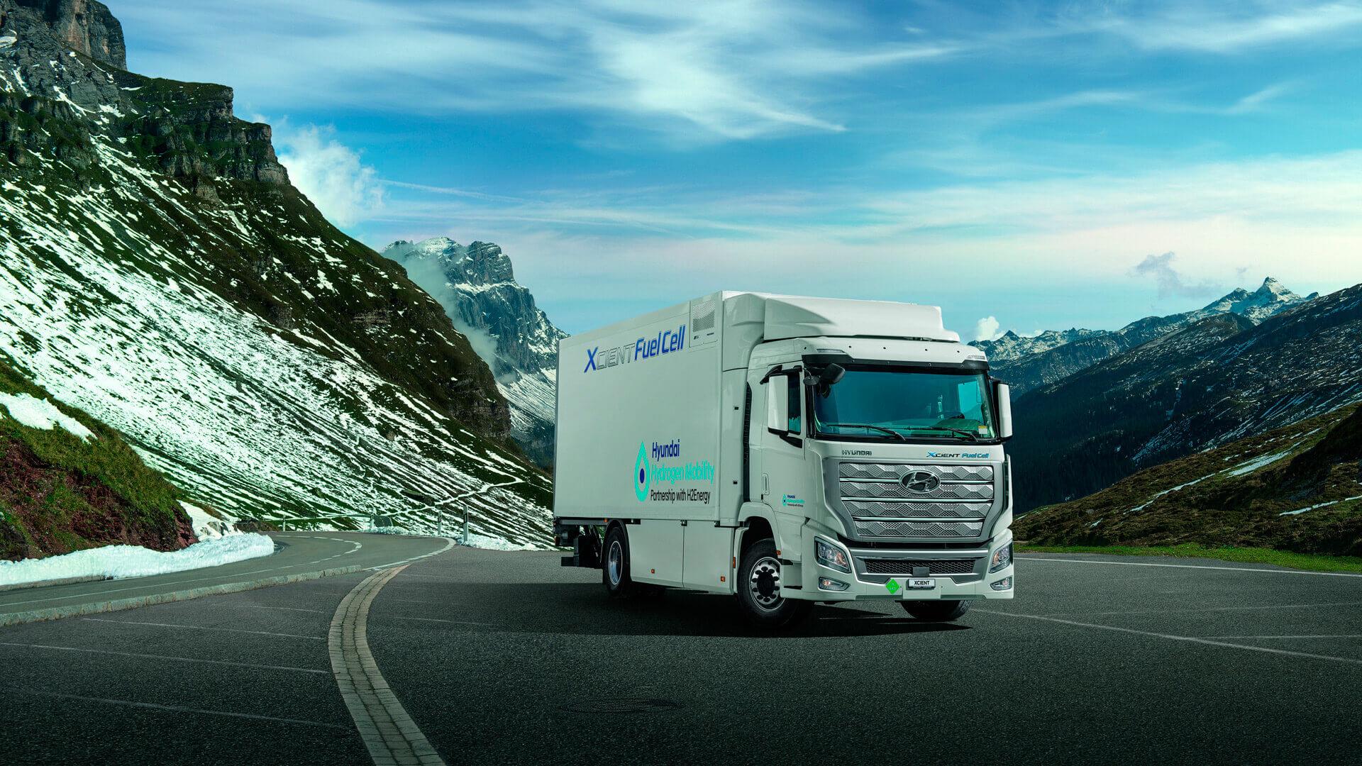 Запас хода водородного грузовика XCIENT составляет около 400 км на одной заправке