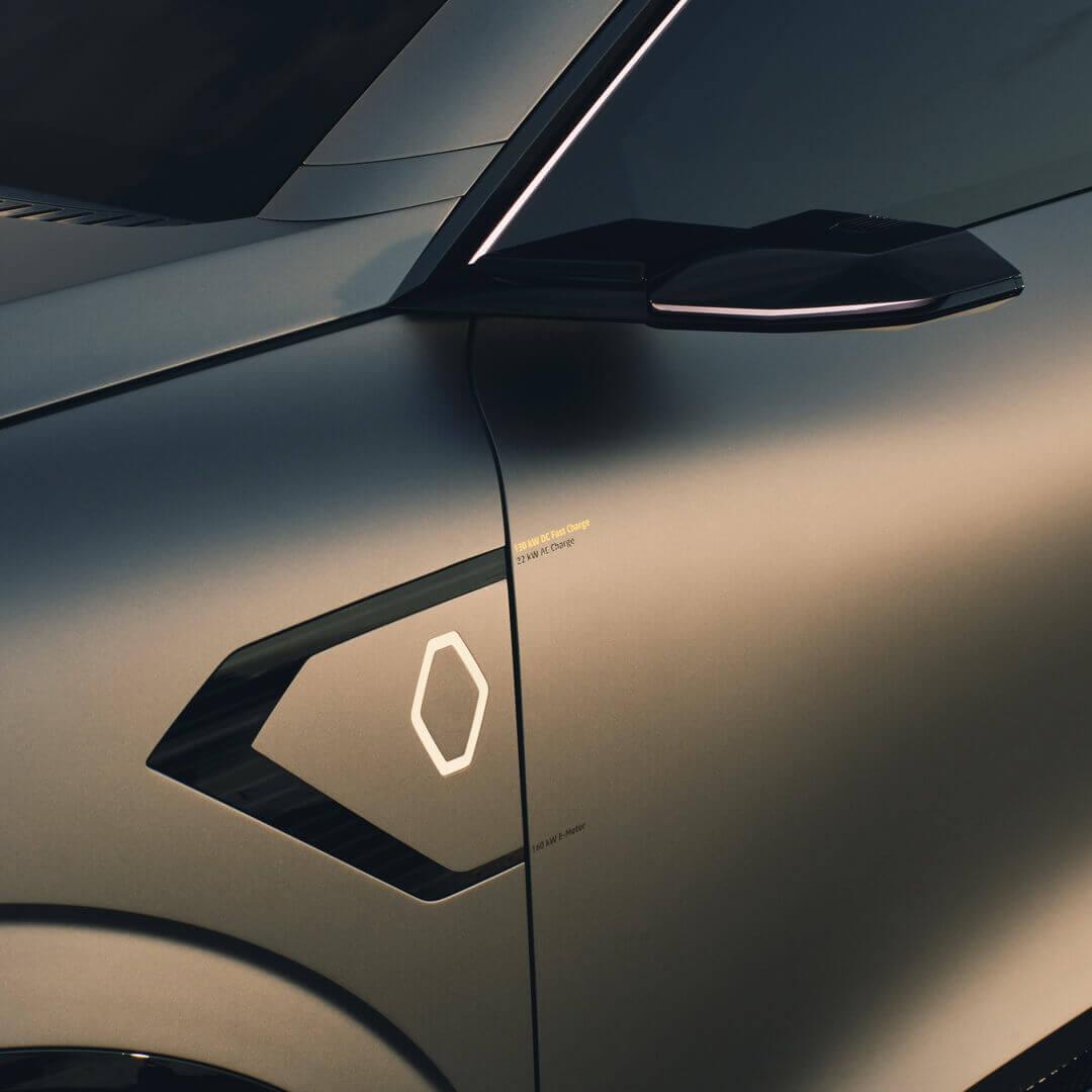 Зарядный порт Renault Megane eVision