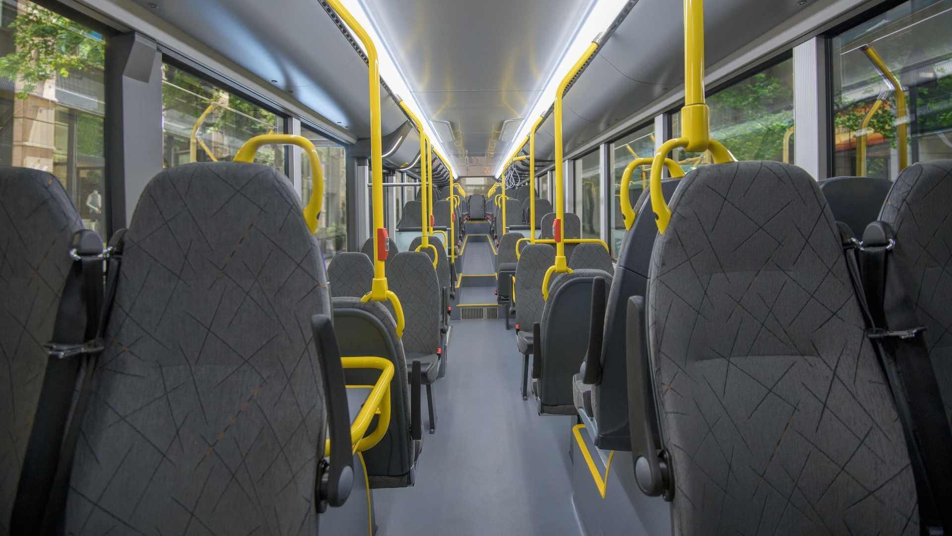 Салон электрического автобуса Solaris Urbino 15 LE electric