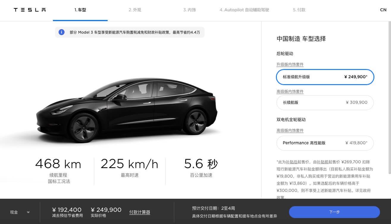 Tesla снизила на 8% цену Model 3 Standard Range Plus китайского производств