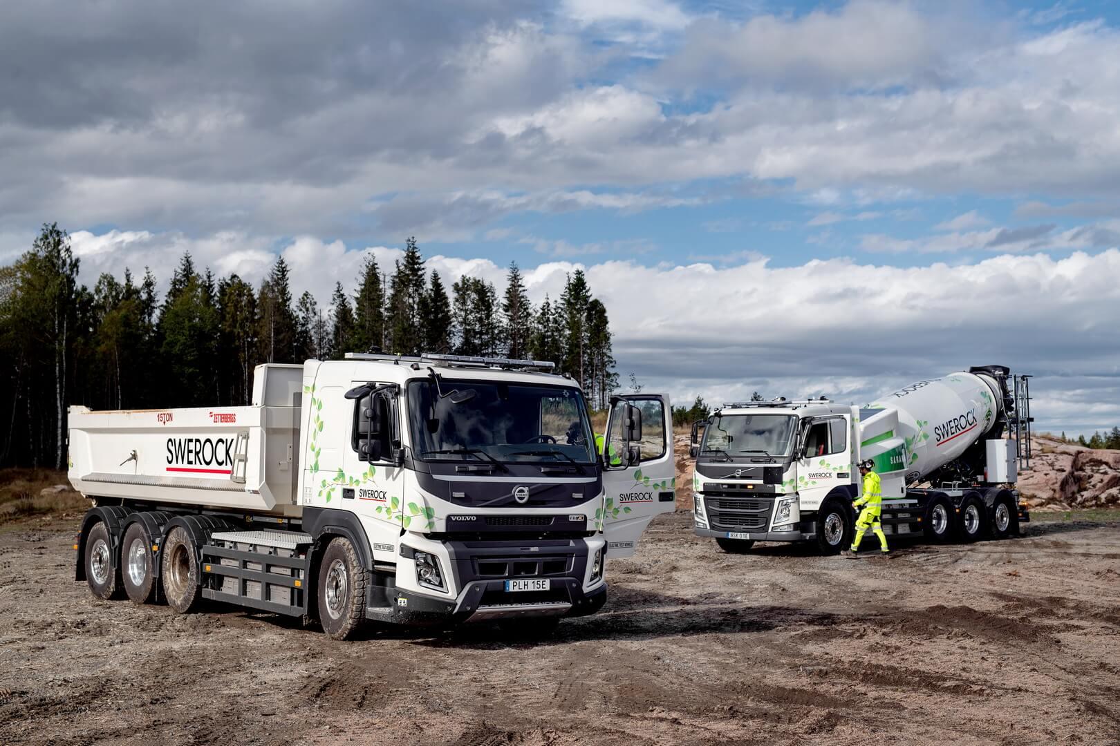 Volvo Trucks тестирует строительные электрические грузовики
