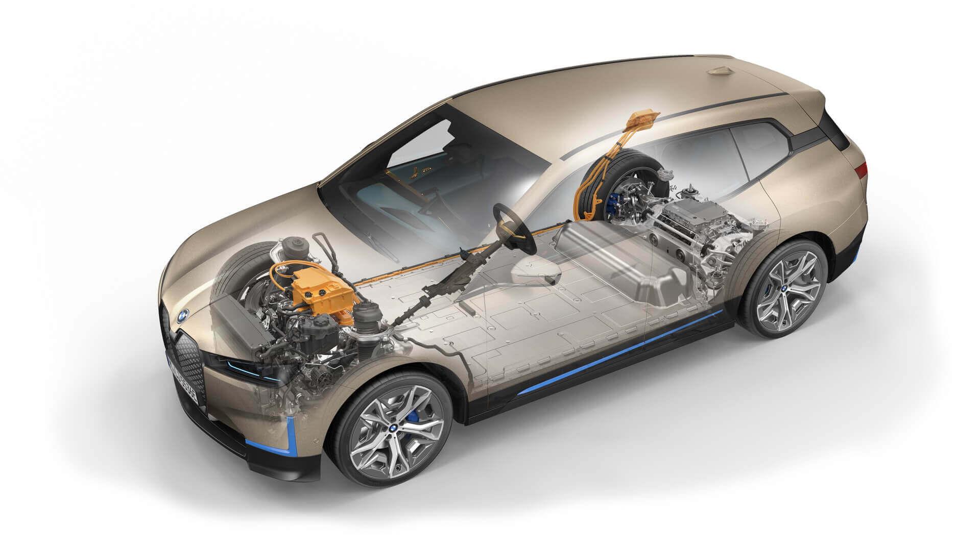 Силовая установка электрического внедорожника BMW iX