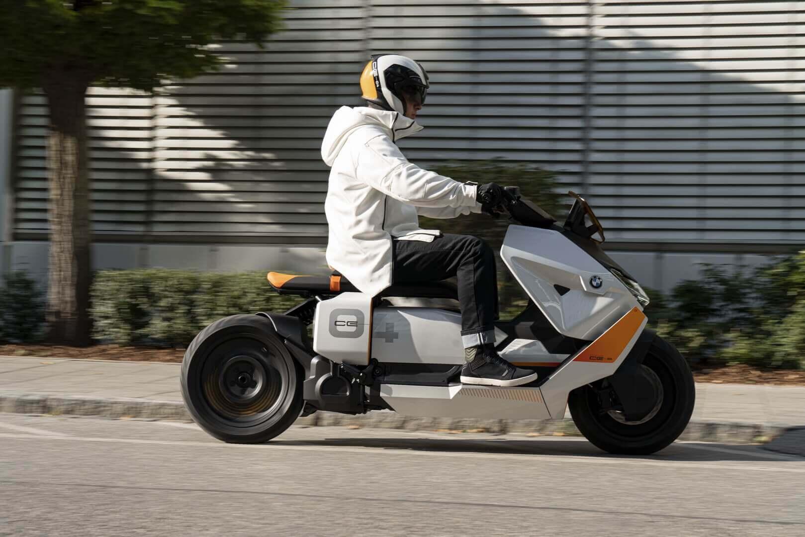 BMW представила концепт городского электрического скутера Motorrad Definition CE 04