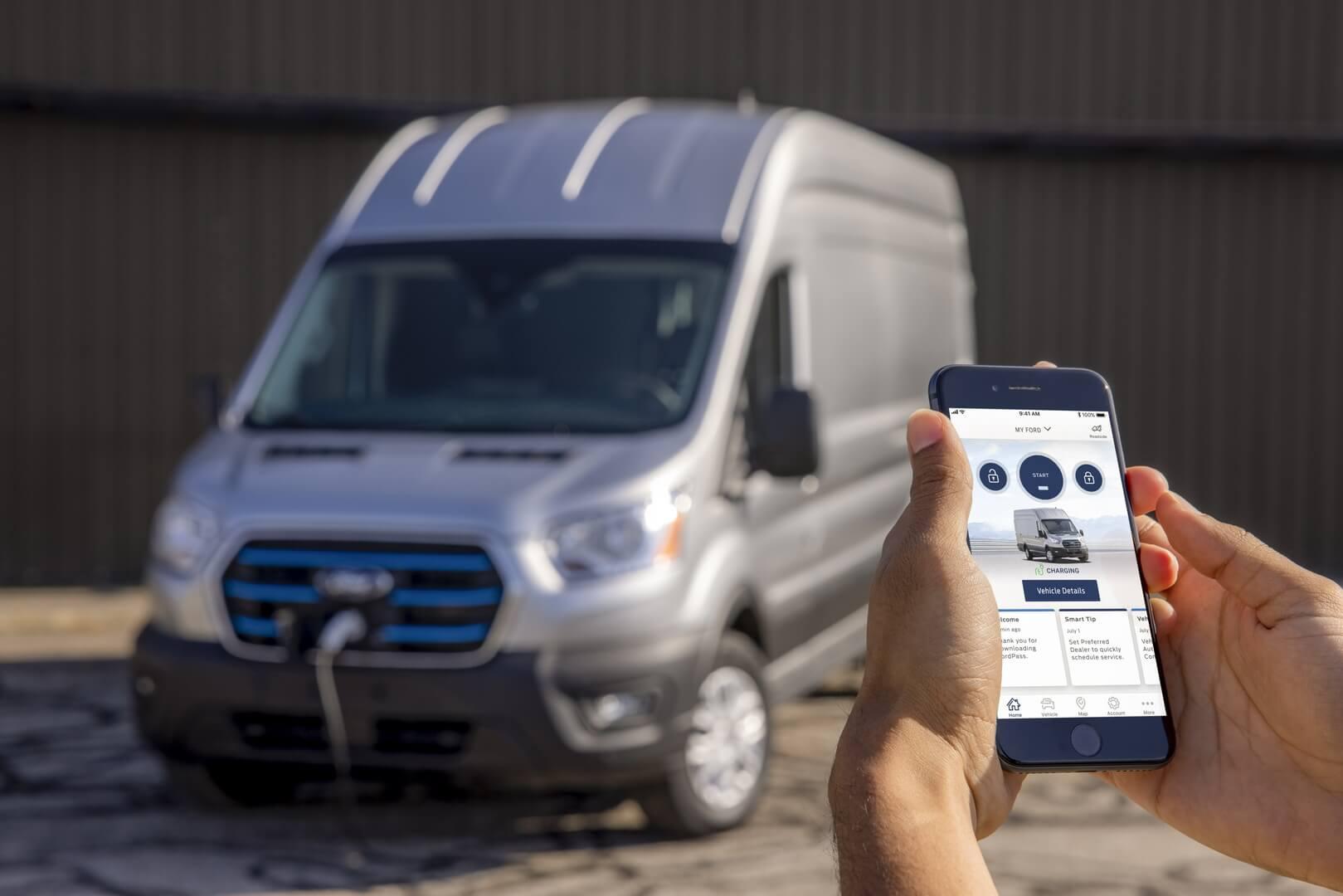 Электрический фургон Ford имеет передовое интеллектуальное оборудование
