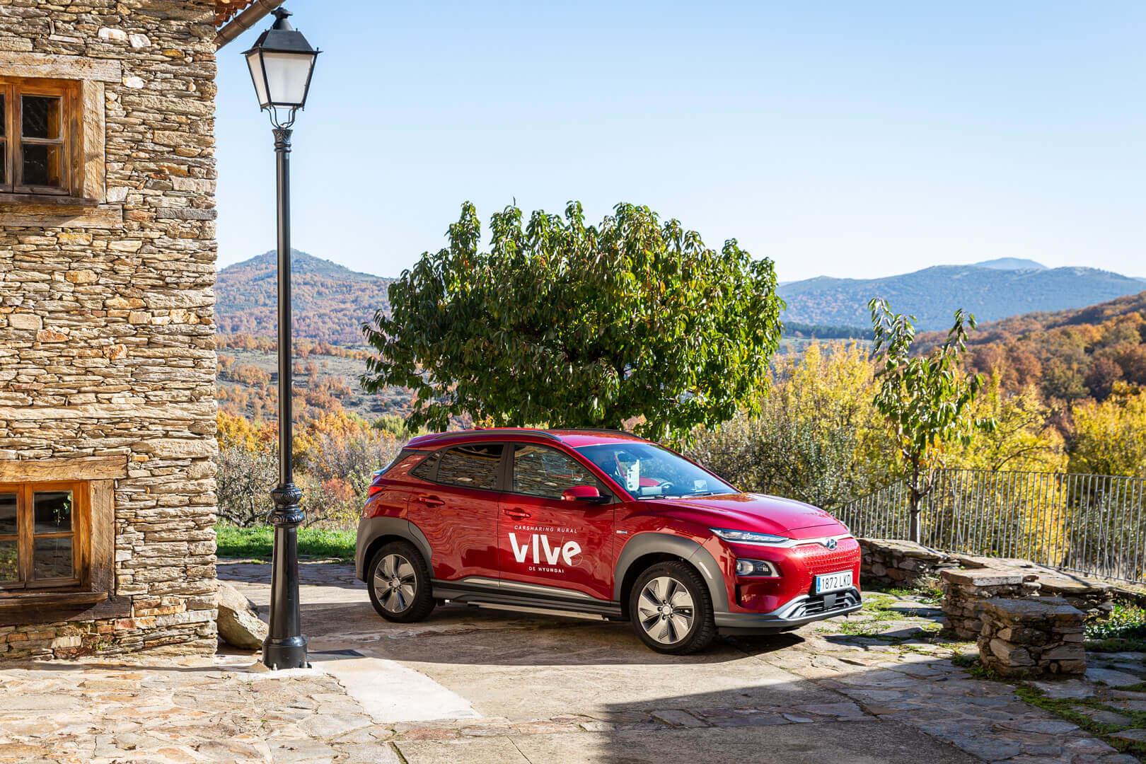 Hyundai расширяет каршеринговый сервис VIVe в сельской местности Испании