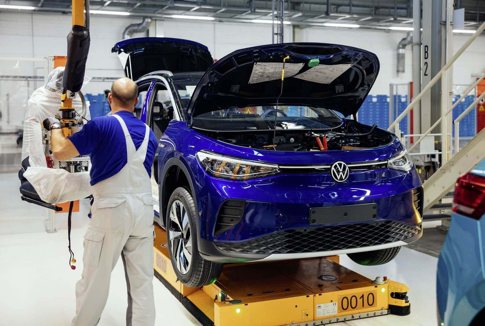 Производство Volkswagen ID.4 в Цвиккау