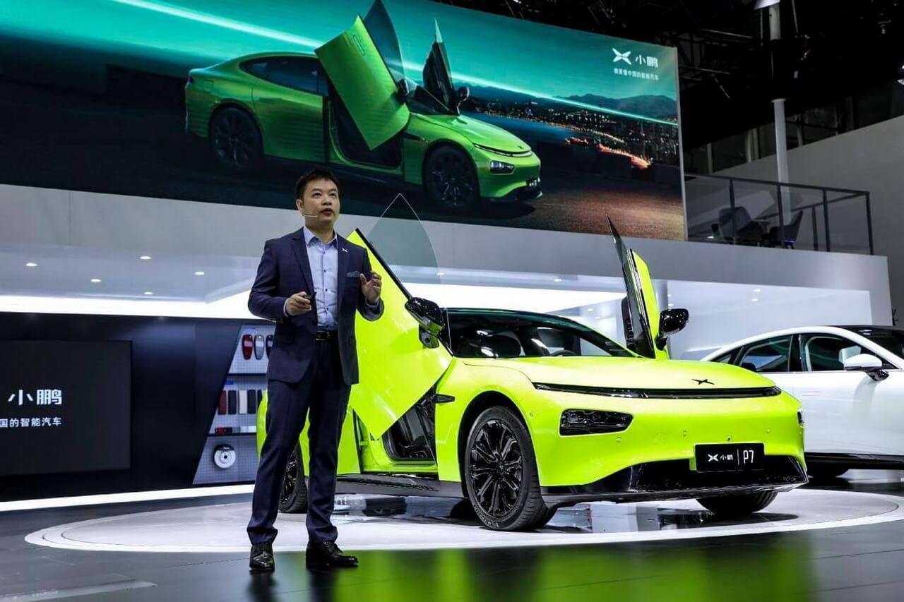 Хэ Сяопэн, председатель и главный исполнительный директор Xpeng Motors, выступает на Auto Guangzhou 2020