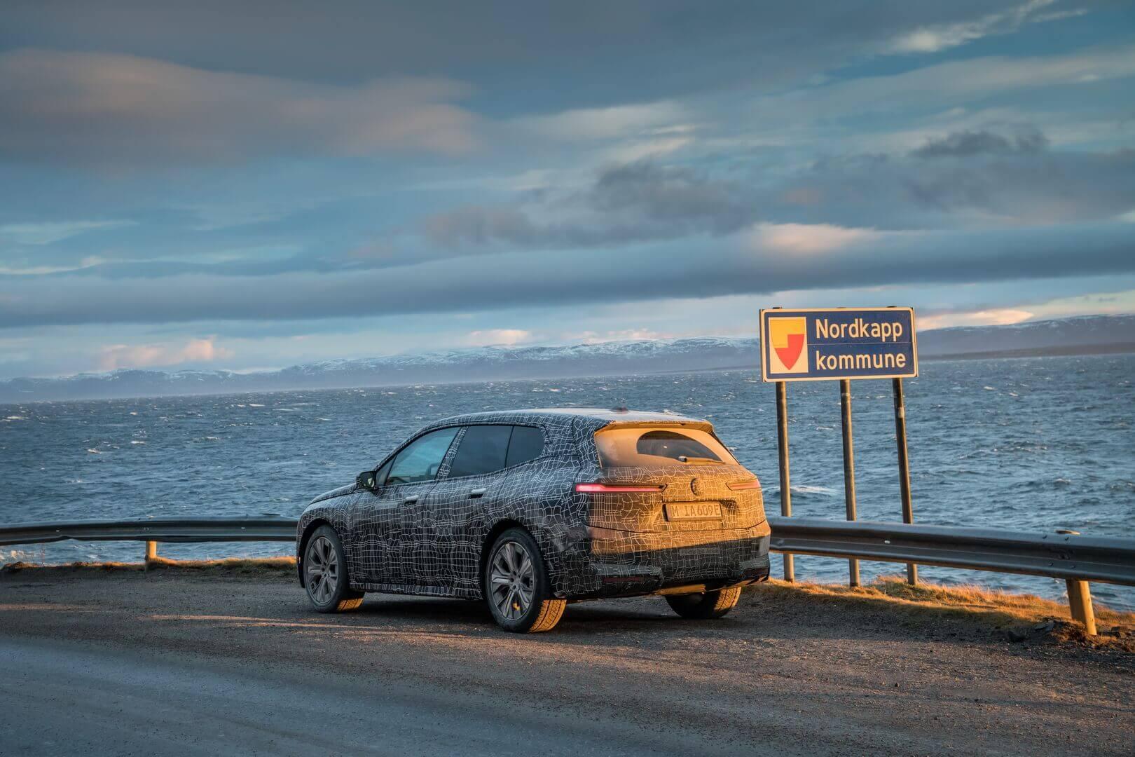 BMW iX проходит заключительные зимние испытания на выносливость на мысе Нордкап