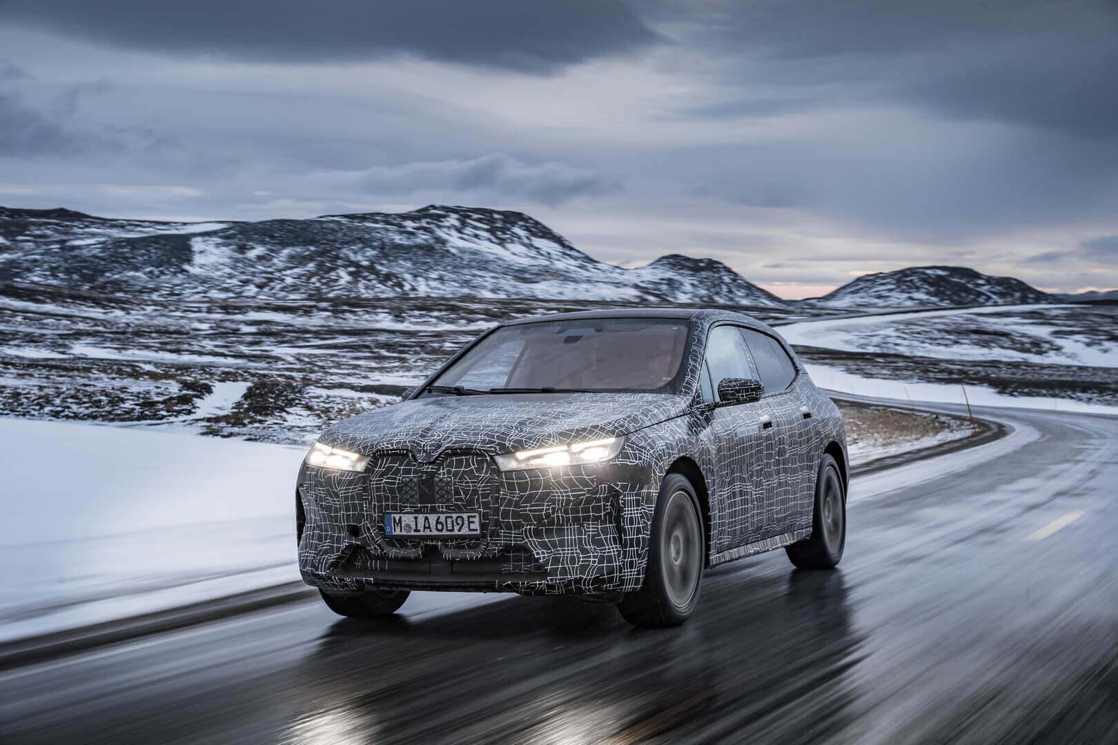 BMW iX проходит зимние испытания на выносливость за Полярным кругом