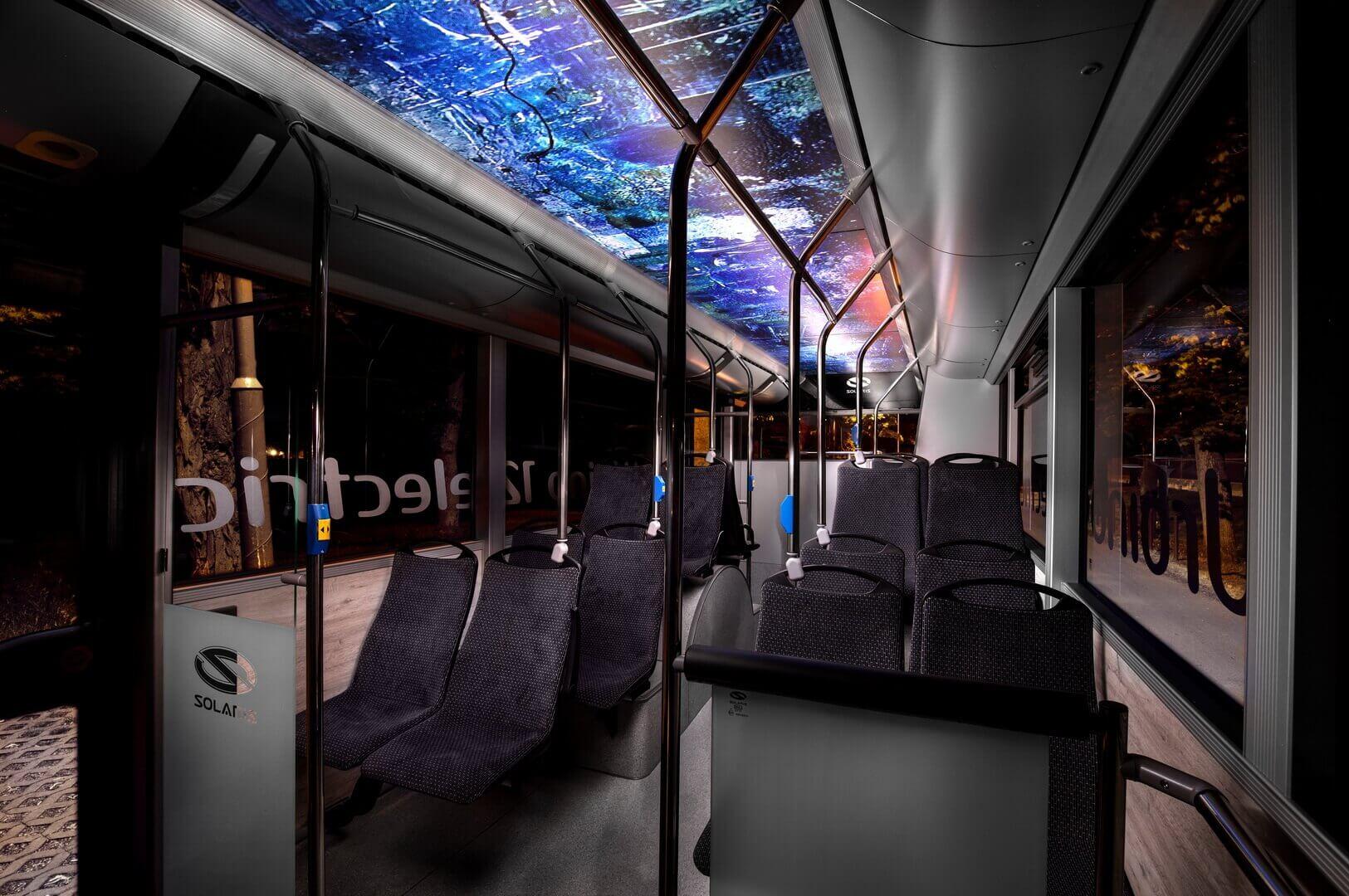Салон электрического автобуса Solaris Urbino 12 Electric