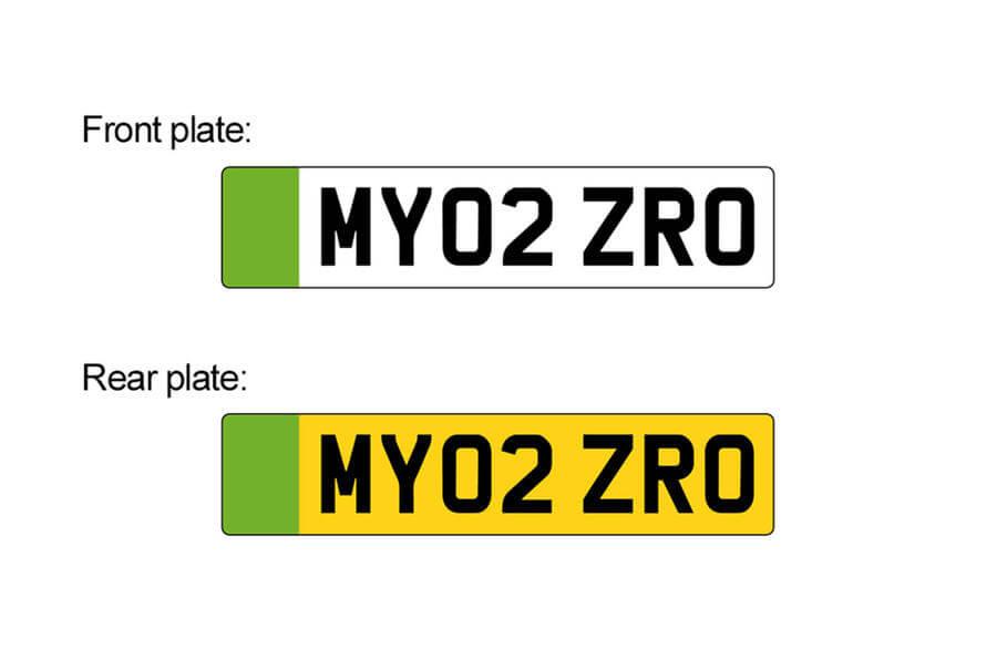 Великобритания ввела «электромобильные» номерные знаки