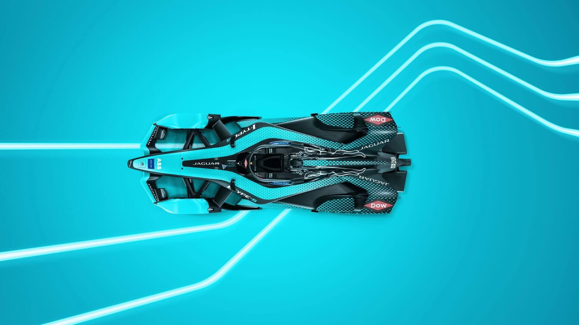 Jaguar I-TYPE 5 – новый гоночный электрокар Jaguar Racing для чемпионата Formula E 2021