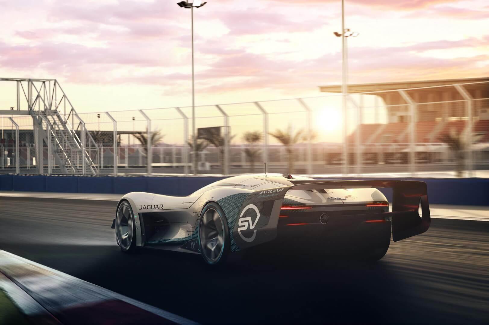 Виртуальный электрокар для гонок Jaguar Vision Gran Turismo SV