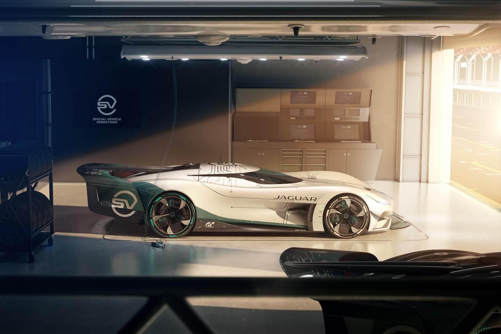 Jaguar Vision Gran Turismo SV — электрический виртуальный автомобиль для гонок на выносливость мощностью 1903 л.с.