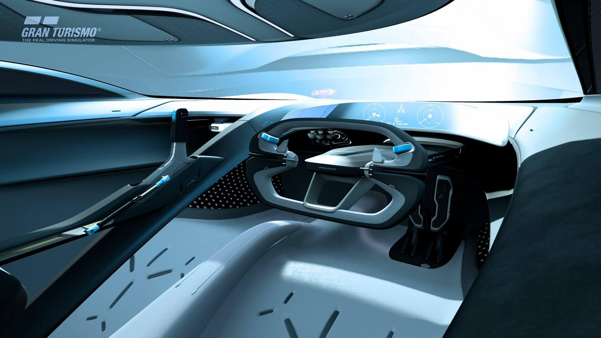 Кабина Jaguar Vision Gran Turismo SV