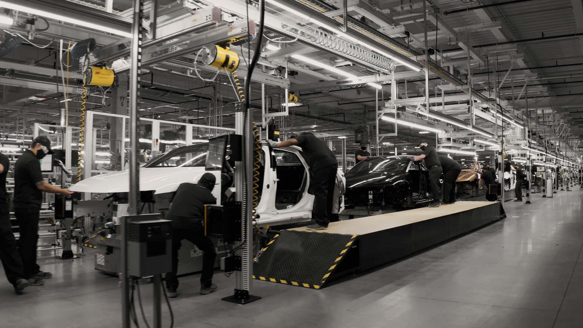 Lucid Motors показал первые снимки внутри своего предприятия