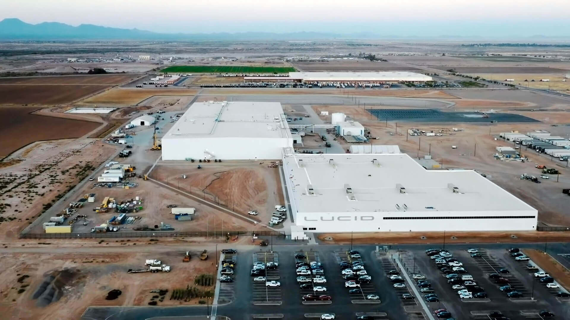 Завершен первый этап строительства завода Lucid Motors